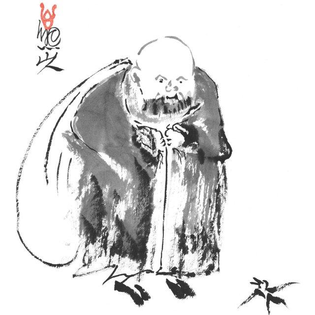Shambhala-Hotei-Bird-and-Monk-_G050_-11x17-Vertical