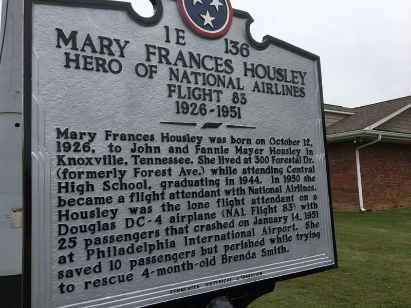 The Tennessee historical marker unveiled honoring Mary Frances Housley (2)