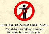 Suicide bomber zone