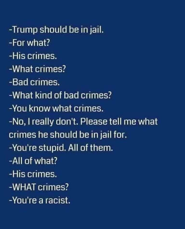 Trump crimes what kind racist