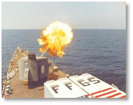 5 iinch naval gun fire weapon