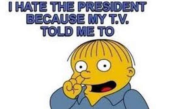TV told me to hate president