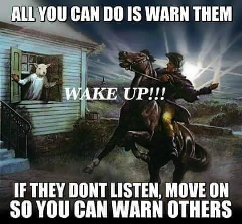 Warn them move on warn others prepare