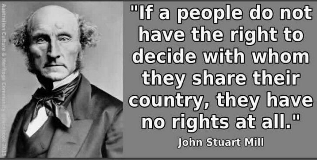 right to decide who shares country no rights quote