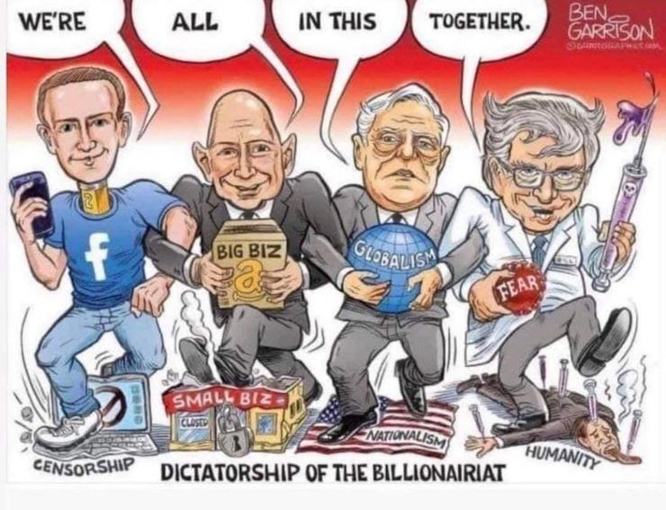 tyrannical elites wealthy dictatorship of the billionaires censorship nationalism
