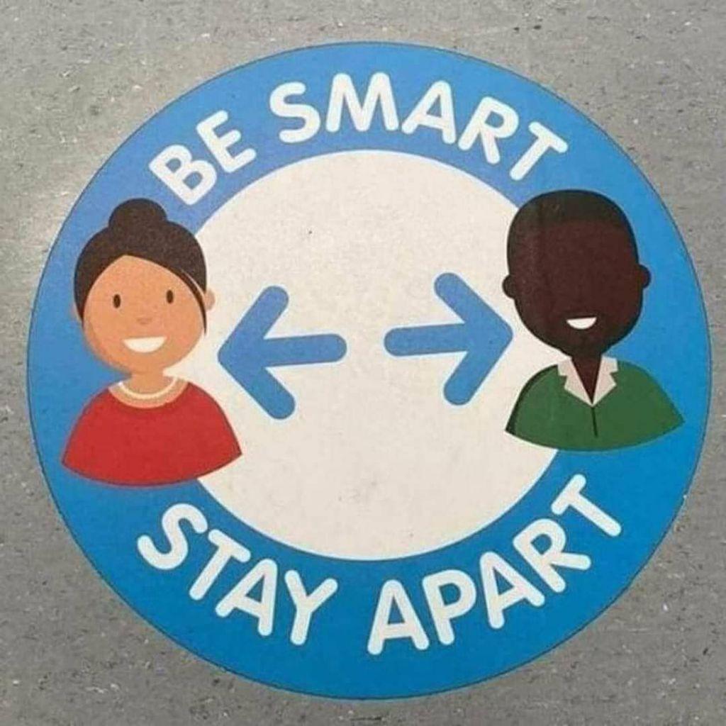 be smart stay apart Black Negro White segregation