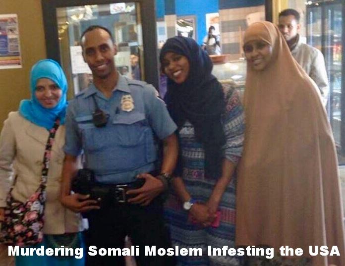 Mohamed Noor Somali Moslem cop murderer White female